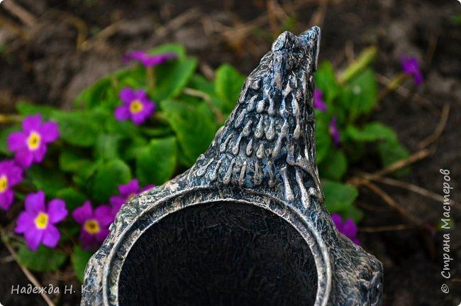 Здравствуйте! Недавно я показывала вам серебряную курочку, а теперь вслед за ней летит каменная пасхальная птичка.  фото 11