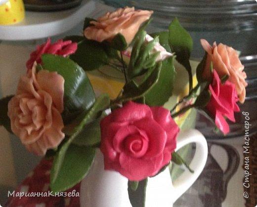 Розочки с листиками из холодного фарфора! фото 1
