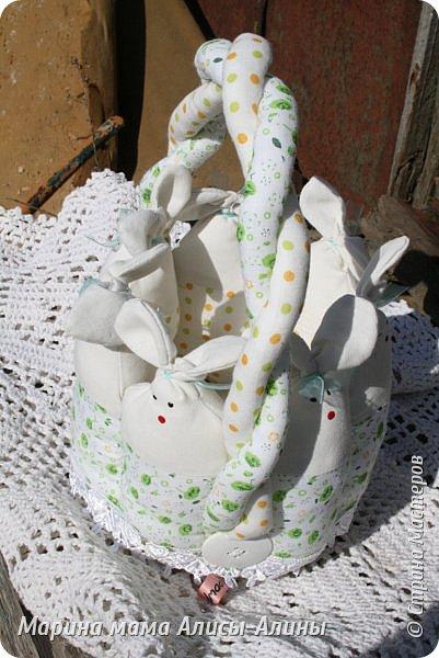 Начинаю готовиться к Пасхе. Пасхальная корзиночка для яичек в садик. фото 4