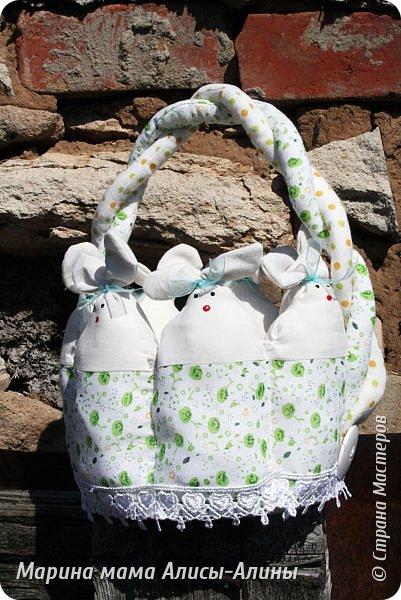Начинаю готовиться к Пасхе. Пасхальная корзиночка для яичек в садик. фото 8