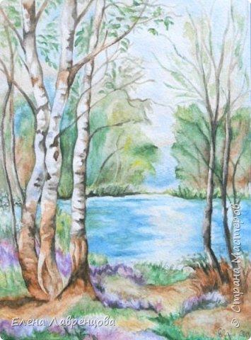 """""""Букет в вазе"""" Техника: акварель и цветной карандаш. Картина нарисована на заказ. фото 4"""