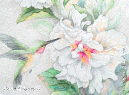 """""""Букет в вазе"""" Техника: акварель и цветной карандаш. Картина нарисована на заказ. фото 6"""