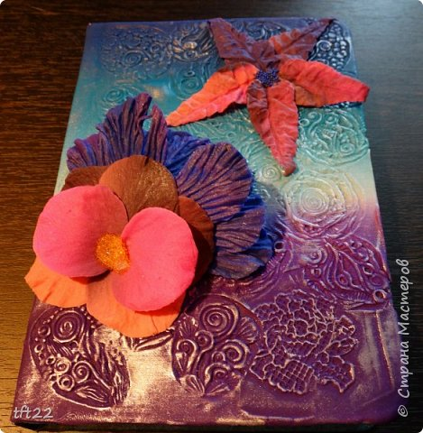 """Давно смотрела на блокноты декорированные полимерной глиной, любовалась. Но никак не решалась попробовать сама.  И вот нступил этот день """"Х"""" - решилась. Конечно между тем, что представлялось и тем , что получилось. - разница огромная. Но удовольствия!!!!!! фото 1"""