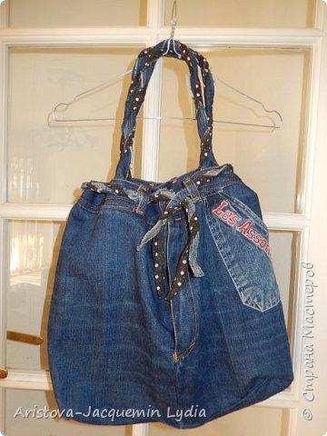Новая сумка из старых джинсов фото 1
