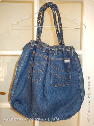 Новая сумка из старых джинсов фото 2