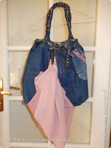 Новая сумка из старых джинсов фото 4