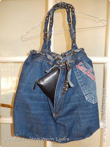 Новая сумка из старых джинсов фото 3