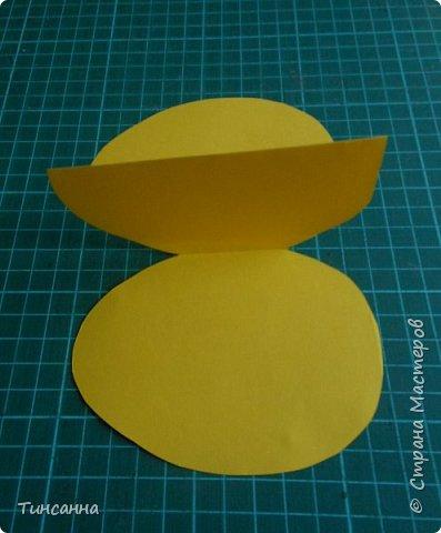 Открытка в форме яйца, при открывании  которой  появляется цыпленок. При ее изготовлении используются приемы оригами и скрапбукинга. фото 10