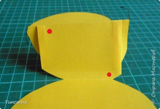 Открытка в форме яйца, при открывании  которой  появляется цыпленок. При ее изготовлении используются приемы оригами и скрапбукинга. фото 14