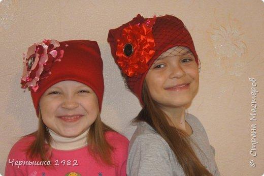 Вот такие шапочки сшила для себя и своих дочек фото 1