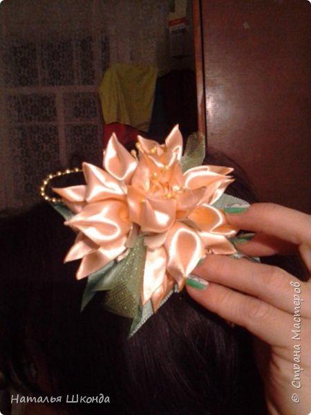 Привет всем жителям Страны мастеров!Хочу показать свои ободочки.Их пока 2 шт.Цветы сделаны из фоамирана , делала сама. фото 8