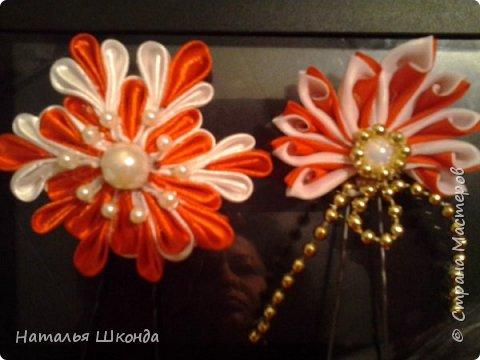 Привет всем жителям Страны мастеров!Хочу показать свои ободочки.Их пока 2 шт.Цветы сделаны из фоамирана , делала сама. фото 7