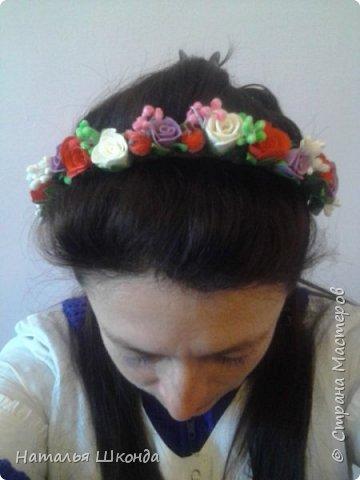 Привет всем жителям Страны мастеров!Хочу показать свои ободочки.Их пока 2 шт.Цветы сделаны из фоамирана , делала сама. фото 4
