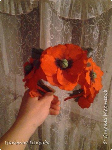 Привет всем жителям Страны мастеров!Хочу показать свои ободочки.Их пока 2 шт.Цветы сделаны из фоамирана , делала сама. фото 5