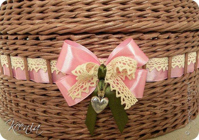 Всем здравствуйте! Сегодня у меня шкатулка, сплетенная для маминой подруги, в качестве подарка на день рождения. фото 3