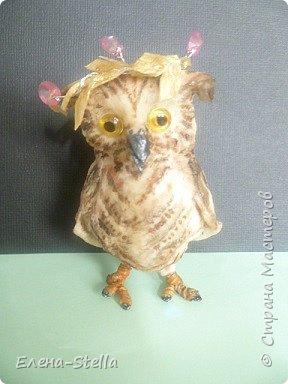 Всех приветствую из ПИТЕРА! Сегодня покажу вам птичку - СОВЕНОК ФЕНЯ -  сделан на заказ. ВАТА - 8см.  Я тоже люблю совушек, поэтому сделала его с удовольствием и на одном дыхании.  Феня еще маленький и ему все очень интересно! фото 10