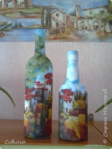 """Бутылки, как предмет декора кухни в стиле """"прованс"""" фото 24"""