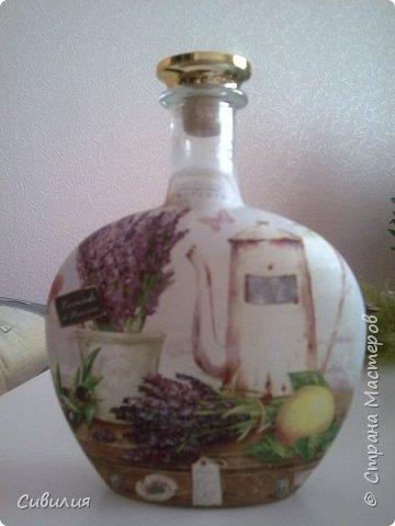 """Бутылки, как предмет декора кухни в стиле """"прованс"""" фото 25"""