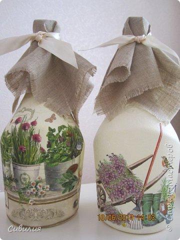 """Бутылки, как предмет декора кухни в стиле """"прованс"""" фото 2"""