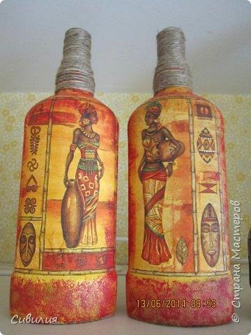 """Бутылки, как предмет декора кухни в стиле """"прованс"""" фото 9"""