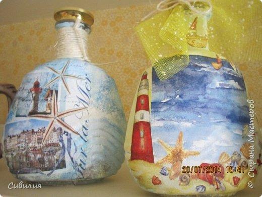 """Бутылки, как предмет декора кухни в стиле """"прованс"""" фото 7"""