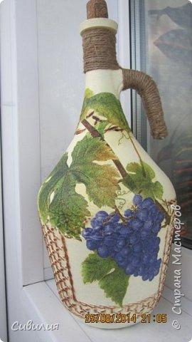 """Бутылки, как предмет декора кухни в стиле """"прованс"""" фото 10"""