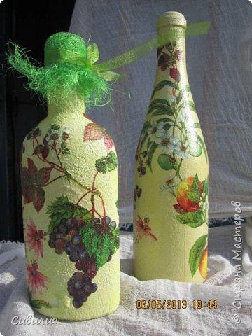 """Бутылки, как предмет декора кухни в стиле """"прованс"""" фото 3"""