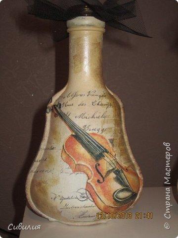 """Бутылки, как предмет декора кухни в стиле """"прованс"""" фото 11"""