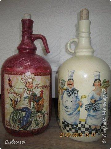 """Бутылки, как предмет декора кухни в стиле """"прованс"""" фото 23"""