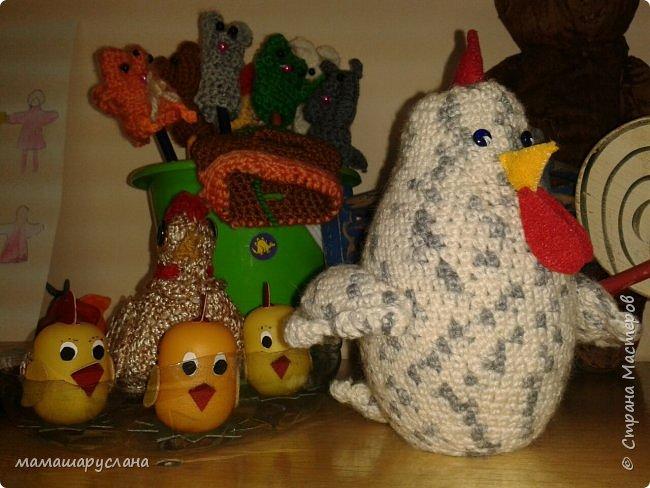 В детском саду была неделя театра. Мои курочка Ряба и цыплята.  фото 1