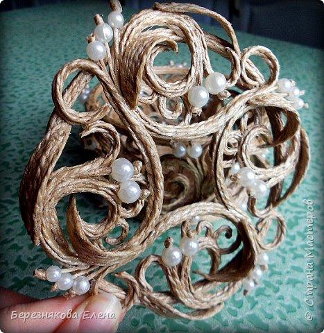 Всем привет)))Проба пера в виде ажурного кругляша с бусинами. фото 5