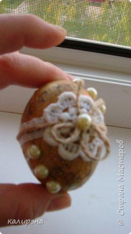 Готовлюсь к Пасхе. Яйца в разных стилях. Эти подвески, шпагатные фото 12