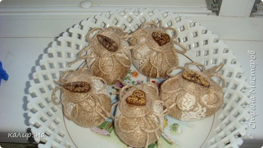 Готовлюсь к Пасхе. Яйца в разных стилях. Эти подвески, шпагатные фото 7