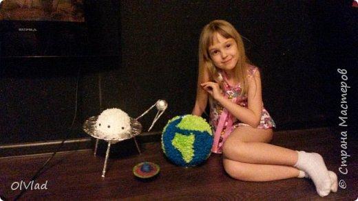 "Поделка планета ""Земля"" ко Дню космонавтики фото 2"