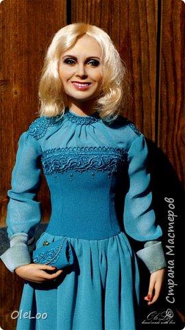Кукла была сделана к юбилею Ливингдолл, шерсть, шелк Подставка - мдф + шпон мореного эвкалипта Рост 57 см  2016 фото 2