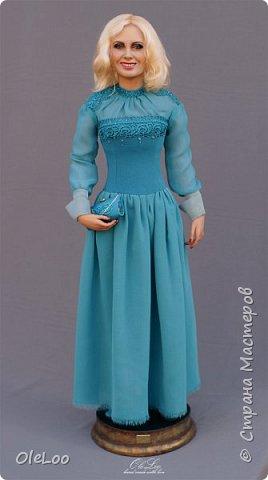 Кукла была сделана к юбилею Ливингдолл, шерсть, шелк Подставка - мдф + шпон мореного эвкалипта Рост 57 см  2016 фото 3