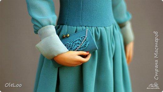 Кукла была сделана к юбилею Ливингдолл, шерсть, шелк Подставка - мдф + шпон мореного эвкалипта Рост 57 см  2016 фото 4