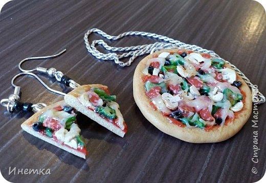 Пицца с грибами,колбасой салями и маслинами ;) Приятного аппетита ;) фото 4