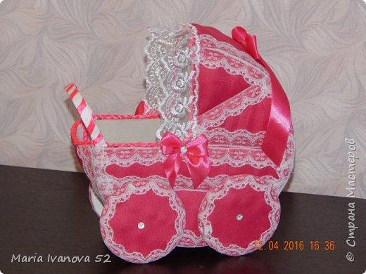 коляска для сбора денежек на свадьбе, на дочку фото 1