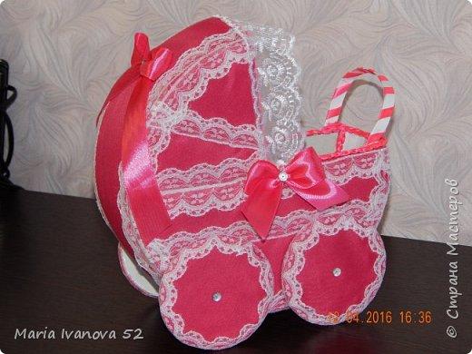коляска для сбора денежек на свадьбе, на дочку фото 2