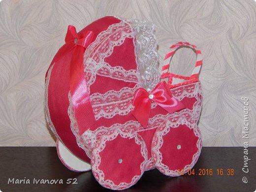 коляска для сбора денежек на свадьбе, на дочку фото 3
