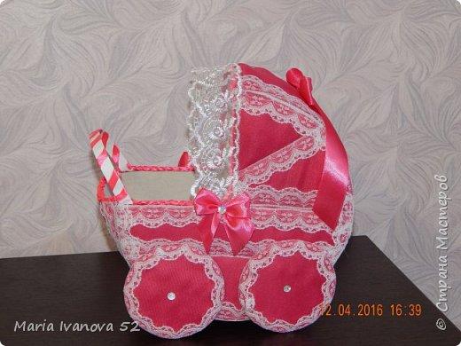 коляска для сбора денежек на свадьбе, на дочку фото 4