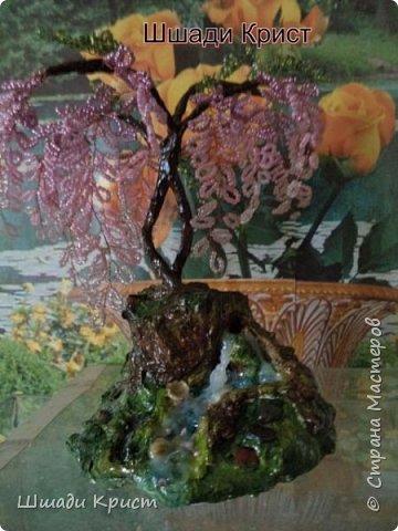 бисер, гипс,проволока,искусственная вода, краски гуашь,лак,декоративные камни и ракушки фото 1