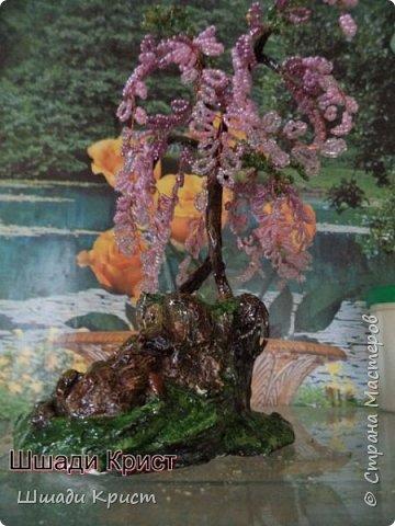 бисер, гипс,проволока,искусственная вода, краски гуашь,лак,декоративные камни и ракушки фото 3