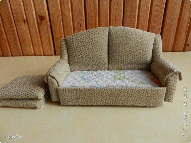 Здравствуйте жители Страны Мастеров.Пришла мысль как можно сделать раскладной диванчик.Вот что получилось. фото 5