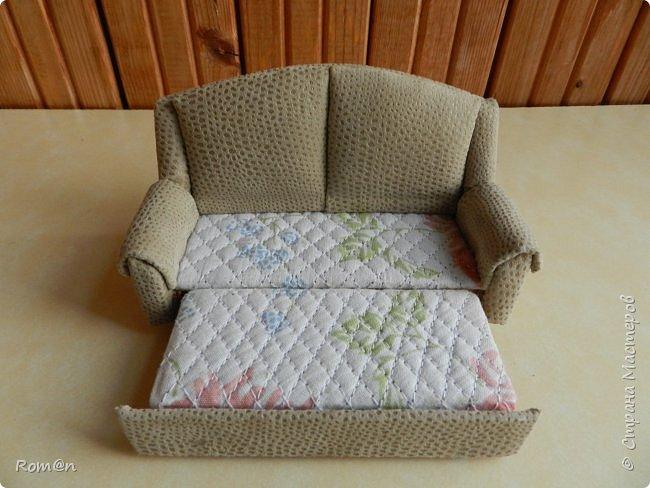 Здравствуйте жители Страны Мастеров.Пришла мысль как можно сделать раскладной диванчик.Вот что получилось. фото 7
