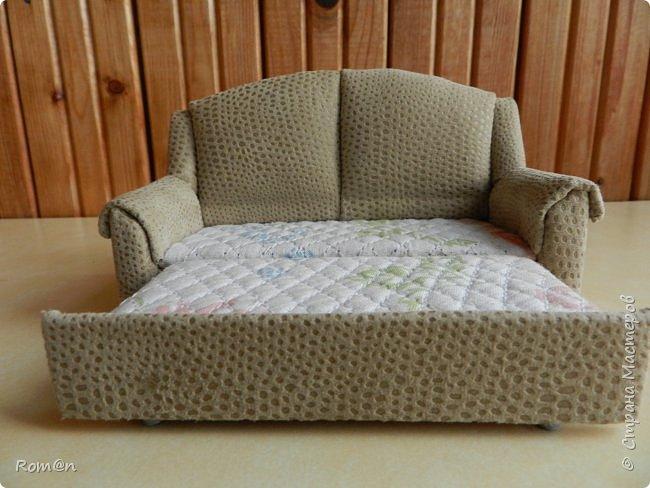 Здравствуйте жители Страны Мастеров.Пришла мысль как можно сделать раскладной диванчик.Вот что получилось. фото 8