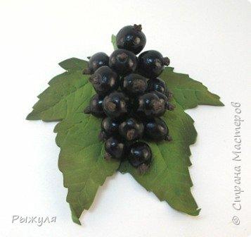 Всем доброго времени суток!  Я вот тут новые техники пробовала , решила Вам показать))) Это чёрная смородинка - листья из фоамирана, а ягодки из силикона! фото 1