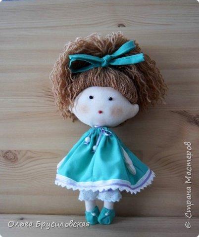 Привет всем в СМ! В моем кукольном семействе пополнение. Опять малышки (20см) Это - малышка в клетчатом. фото 2