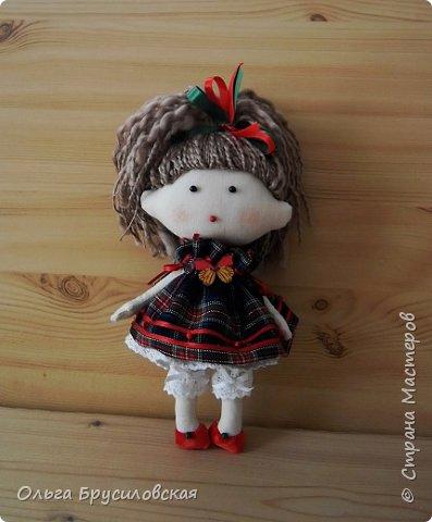 Привет всем в СМ! В моем кукольном семействе пополнение. Опять малышки (20см) Это - малышка в клетчатом. фото 1